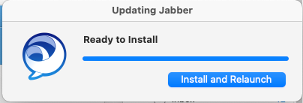 Updating Jabber window: Updating Jabber, Read to Install