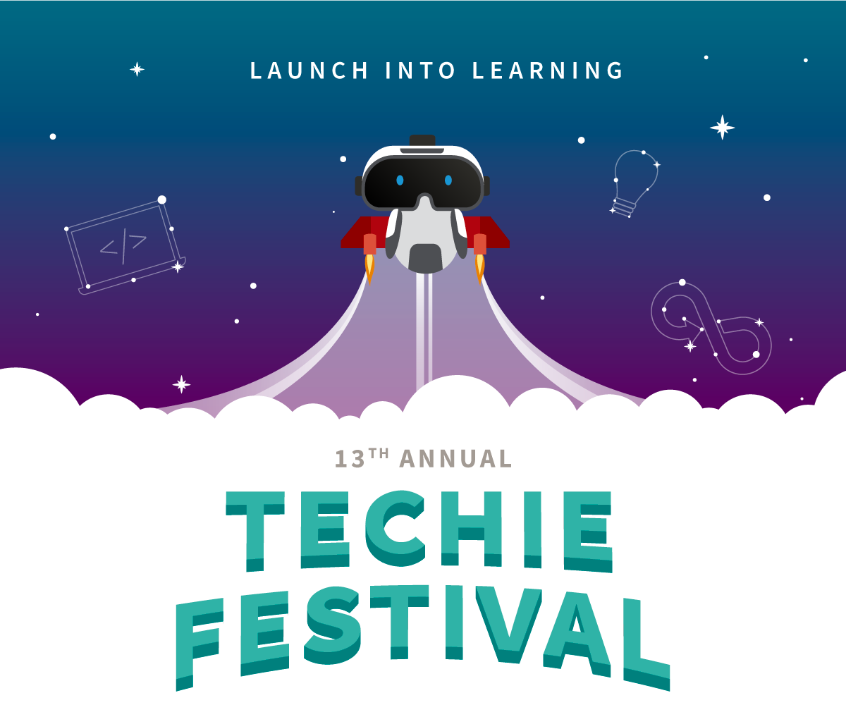 Launch Into Learning - Robot Flying in Space - 13th Annual Techie Festival