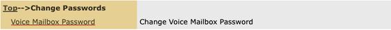 Change voice mailbox password