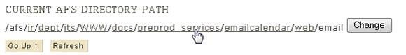 click folder name in path