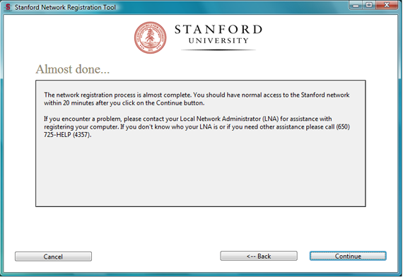 self-registration progress