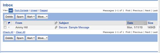 email program Inbox