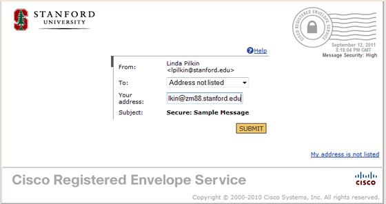 enter destination address