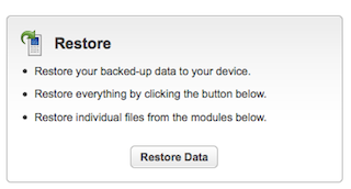 Lookout Mobile's Restore feature