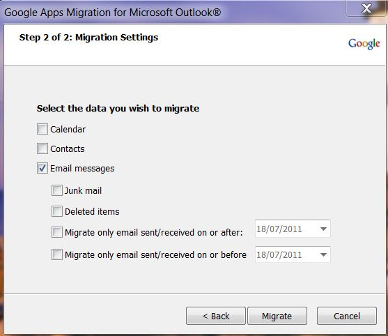 migration settings