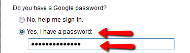 enter your Google Apps password
