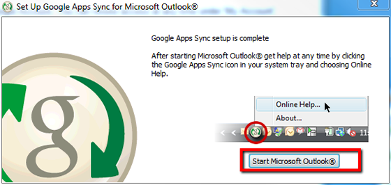 start Microsoft Outlook