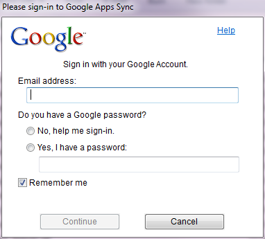 sign in to your Google Apps account