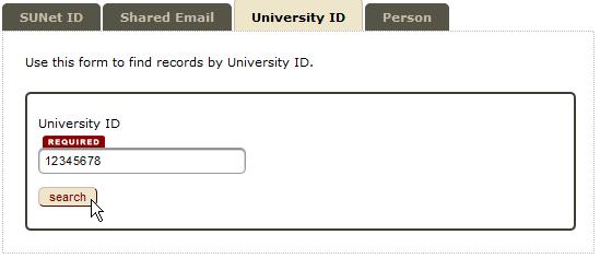 university ID