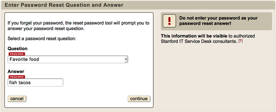 password question
