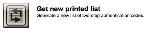 get new printed list button