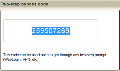 bypass code