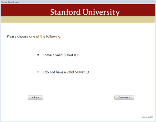 query for valid SUNet ID