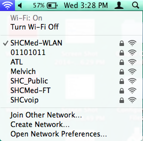 If connecting to Jabber via Wi-Fi, select SHCMed-WLAN as your network.