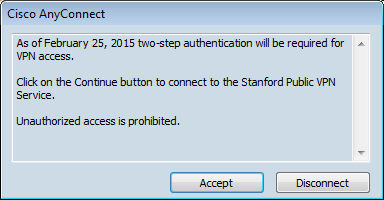 connect to Stanford VPN