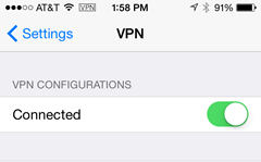 connected to VPN