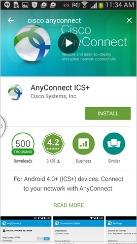 install Cisco AnyConnect ICS+