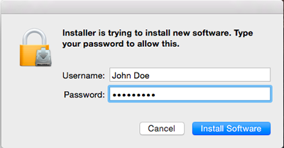 enter your Mac password