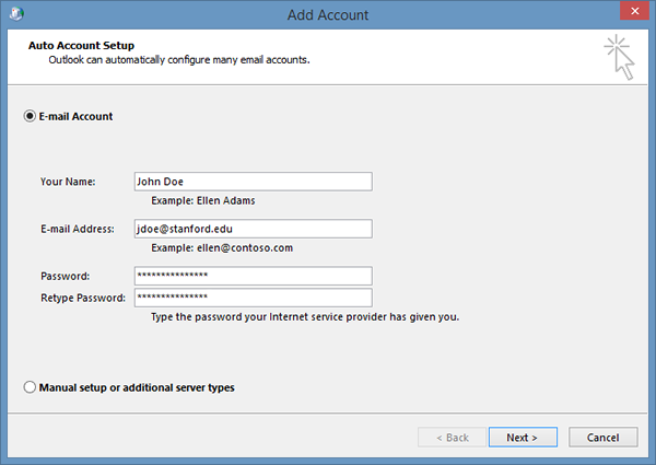 Types Of Email Accounts >> How To Configure Outlook For Windows For Office 365 University It