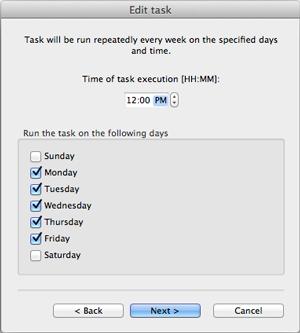 Edit task window