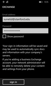 sign in with an incorrect password