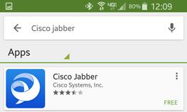 Type in Cisco Jabber