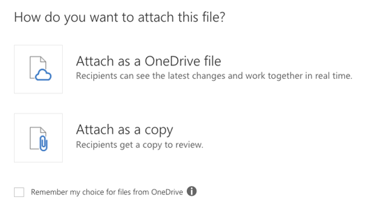 How to Use OneDrive to Send Attachments | University IT