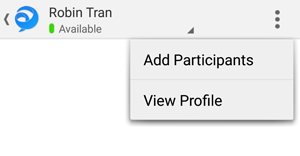 Tap view profile