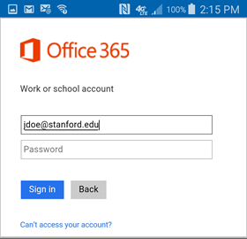how to configure the android outlook app for office 365