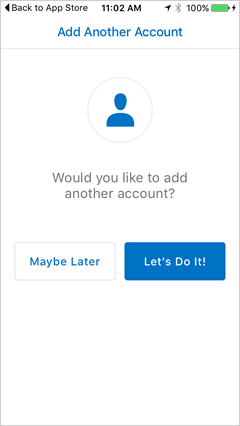 option to add another account