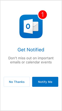choose whether you want Outlook to send you notifications