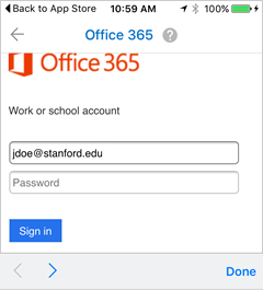 sign in with your @stanford email address