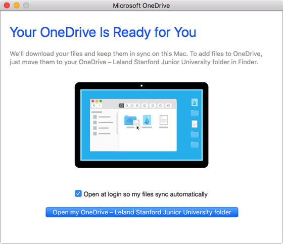 OneDrive is ready