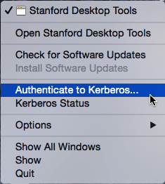 authenticate to Kerberos