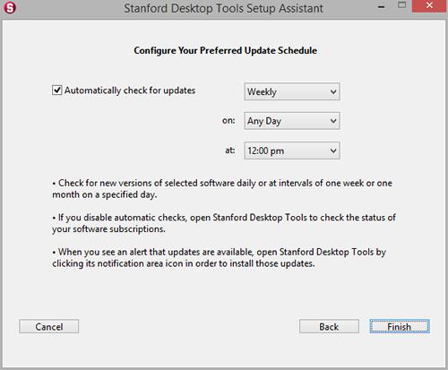 configure preferred update schedule