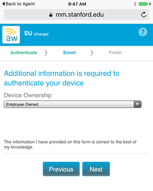 select the device owner