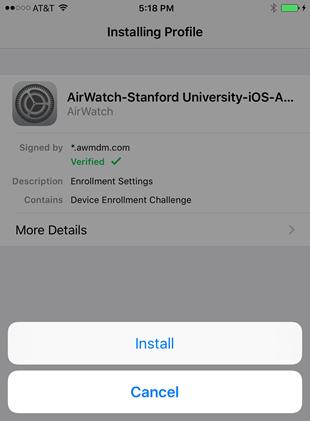 installing profile