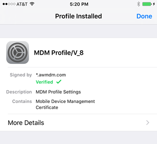profile has finished installing