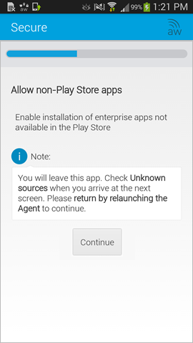 enable installation of non-Play store apps