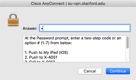 How to Configure Cisco AnyConnect VPN Client for Mac