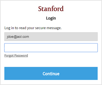 Login screen with Forgot Password link
