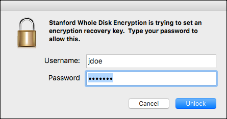 administrator password prompt