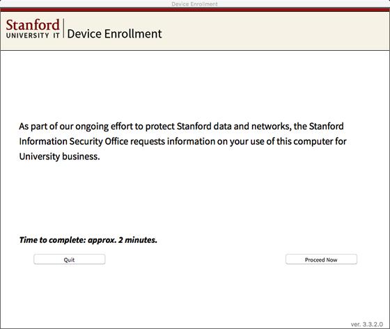 start the enrollment questionaire