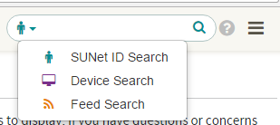 MyDevices search field for administrators