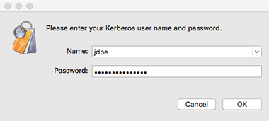 log in to Kerberos to get AFS token
