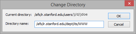 enter the path for your department or group WWW folder
