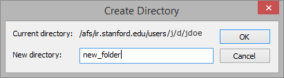 create a new folder in AFS