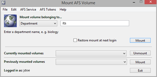 enter directory name to mount