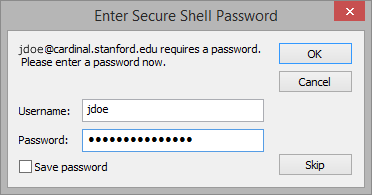 enter your SUNet ID password
