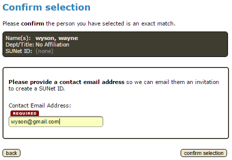 provide a contact email address